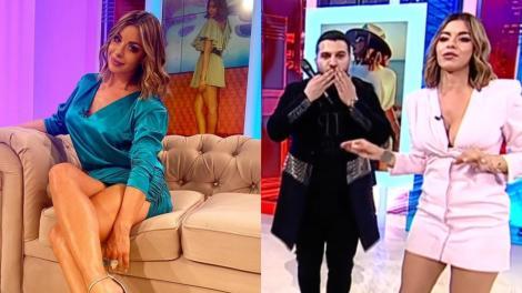 Tzanca Uraganu i-a furat un sărut în direct Nataliei Mateuț, prezentatoarea TV. Camerele au surprins totul | Video