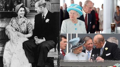 colaj de imagini cu printul philip si regina elisabeta