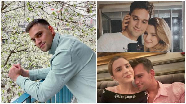 Colaj cu Vlad Gherman și Cristina Ciobănașu. Actorul poartă o cămașă albastră, una roz și un tricou alb, iar Cristina Ciobănașu este îmbrăcată în negru