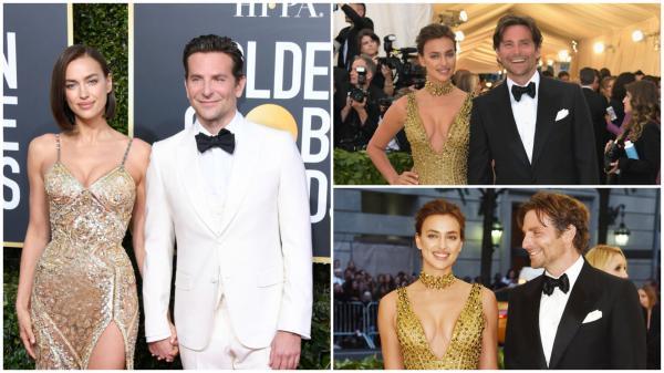 Irina Shayk și Bradley Cooper în trei ipostaze diferite