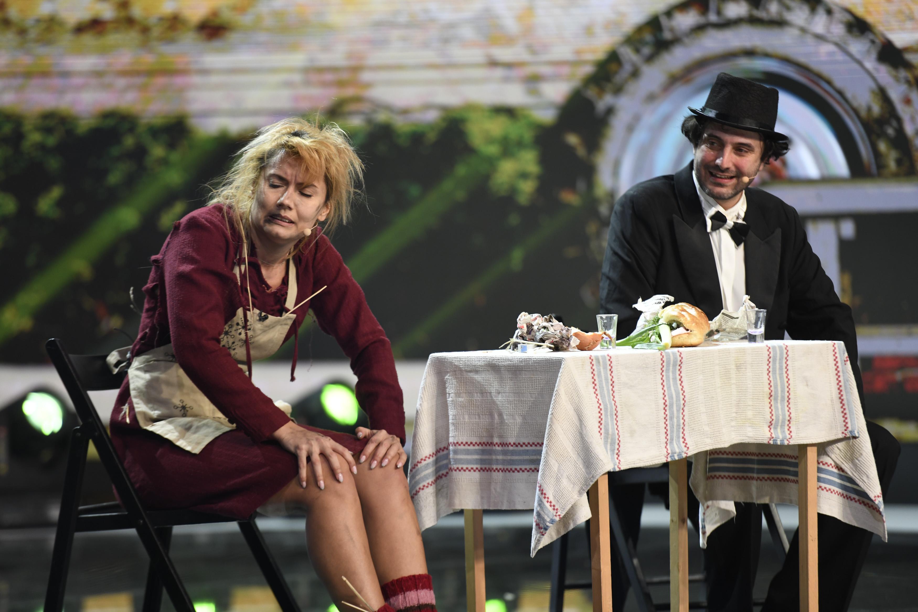 iUmor, 21 aprilie 2021. Compania de Teatru Cristi Toma a adus pe scena iUmor o cerere în căsătorie remarcabilă