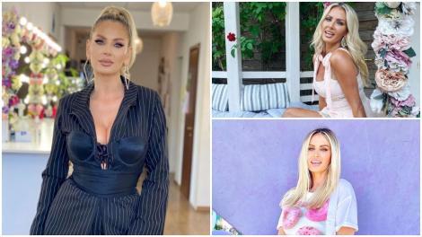 Andreea Bănică, în tri ipostaze diferite