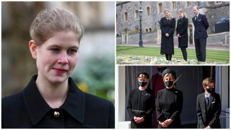 Lady Louise Windsor în trei ipostaze diferite