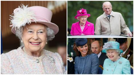 Regina elisabeta în trei ipostaze diferite