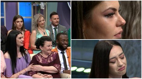 Colaj. Concurenții Mireasa pe canapea, Adelina și Andreea plângând