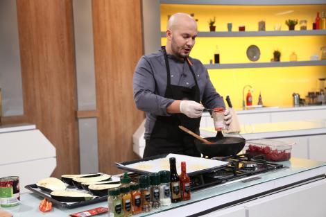 Marius Sînzieanu gatind in bucataria chefi la cutite