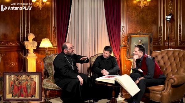Părintele Francisc Doboș și Constantin Necula, alături de Dan Negru