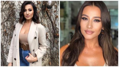 Claudia Pătrășcanu în 2 ipostaze diferite