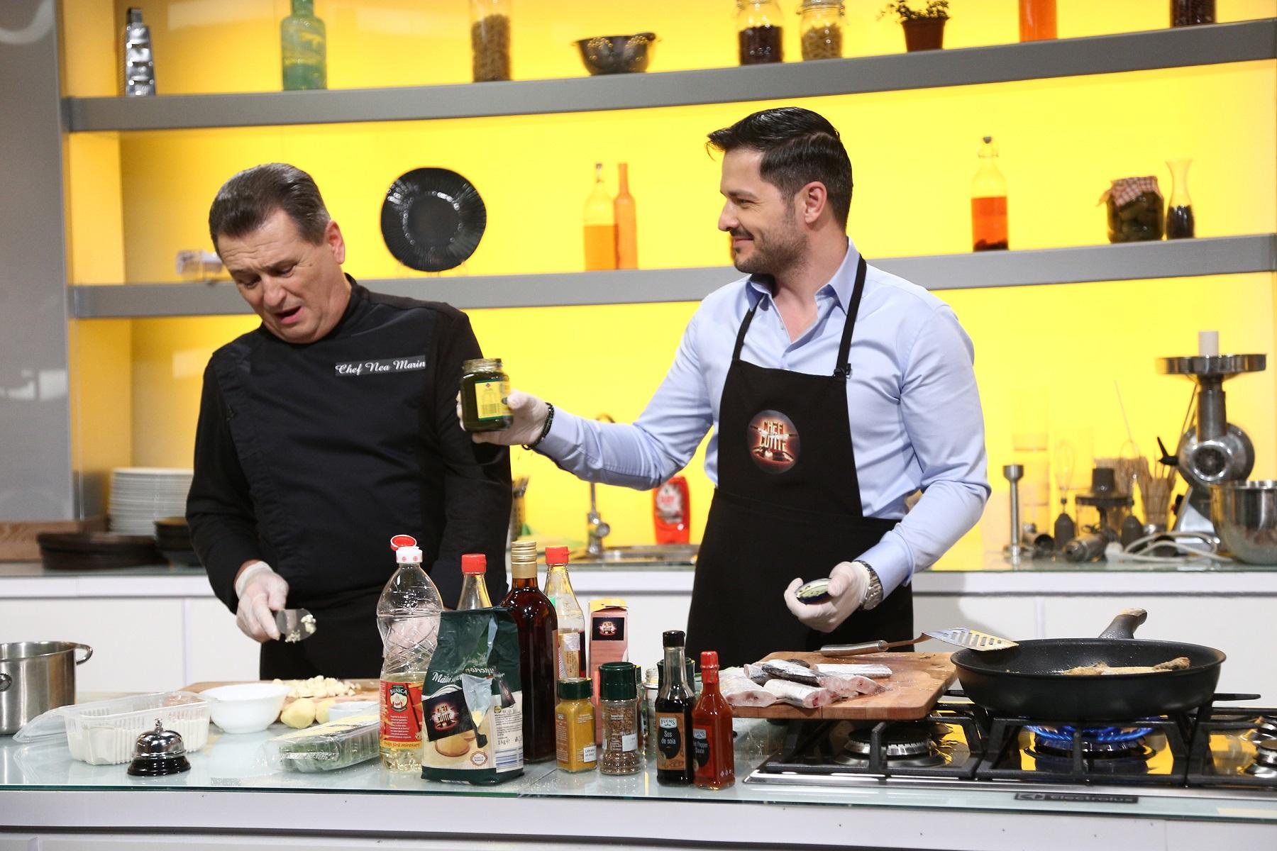 Chefi la cuțite, lider de audiență luni seara. Liviu Vârciu şi Nea Mărin, spectacol total în bucătăria Chefi la cuţite