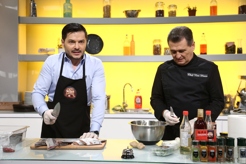 Chefi la cuțite, 6 aprilie 2021. Liviu Vârciu și nea Marin, spectacol în bucătărie. De ce au început să spargă farfurii