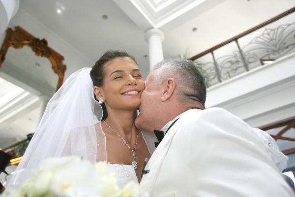 Monica Gabor și Irinel Columbeanu căsătorie