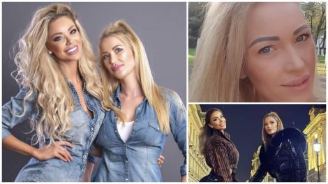 Colaj cu Bianca Drăgușanu și Oana Drăgușanu, îmbrăcate în albastru și negru