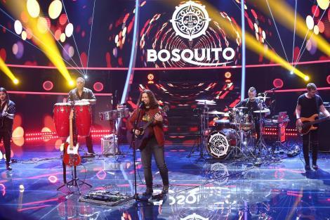 Radu Almășan cântând la chitară, pe scena de la Te cunosc de undeva!