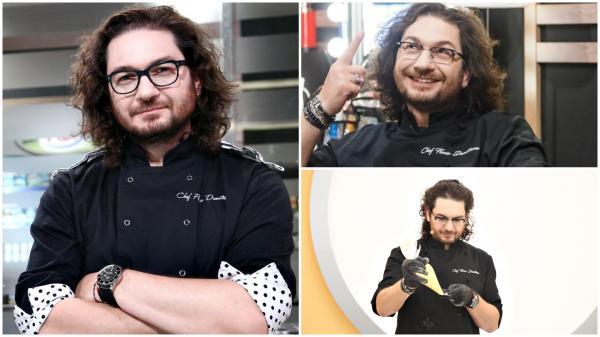 Chef Florin Dumitrescu în 3 ipostaze diferite