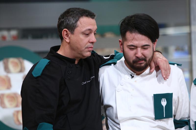 """Sorin Bontea și Rikito Watanabe la """"Chefi la cuțite"""""""