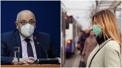 Colaj cu Raed Arafat și o tânără purtând mască de protecție