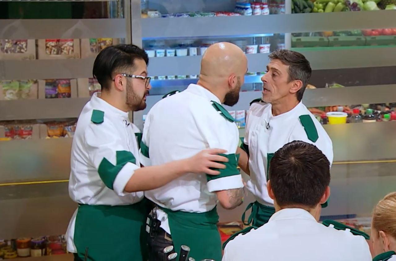 Chefi la cuțite, 11 mai 2021. Ceartă uriașă în echipa verde! Doi concurenți au fost la un pas de bătaie