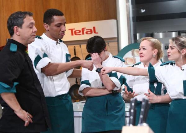 Echipa Verde, plângând după eliminarea lui Matias