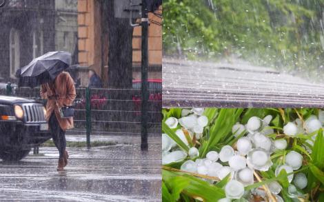 Alertă ANM! Vreme rea în toată România. Ploi torențiale, grindină, vijelii și cod roșu de inundații