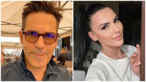 Colaj cu Ștefan Bănică purtând ochelari și cămașă și Lavinia Pîrva, purtând pulover alb