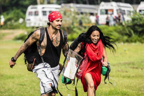Ruby și iubitul ei Robert, alergând la Asia Express