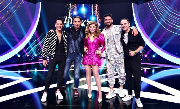 Dorian Popa, Ștefan Bănică, Loredana, Șerban Copoț și Dan Negru pe scena Next Star