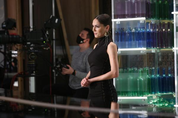 Irina Fodor, rochie neagră