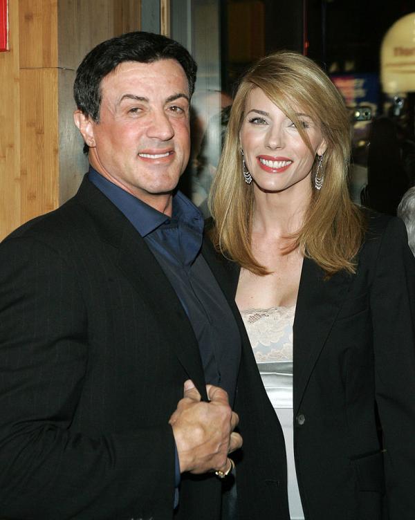 Sylvester Stallonea și Jennifer Flavin în tinerețe