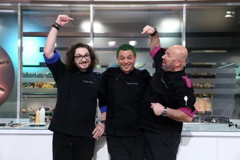 """Ediția Chefi la Cuțite cu prima victorie pentru echipa verde, condusă de chef Bontea, lider de audiență: """"Făceam istorie"""""""