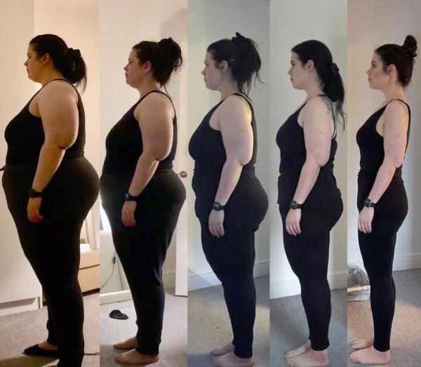 Carla FitzGerald, imagini cu ea la diferite greutati