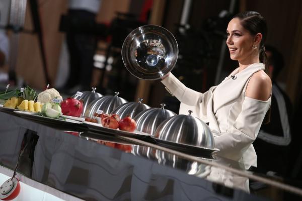 Irina Fodor în platoul Chefi la cuțite
