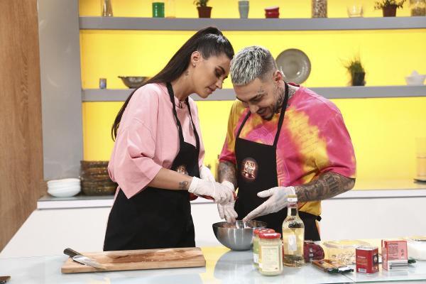 Antonia și Alex Velea apropiați, la Chefi la cuțite