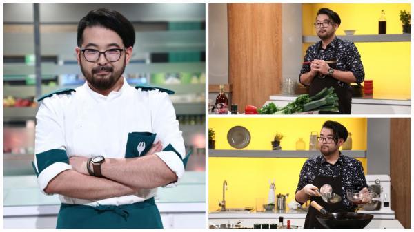 Rikito Watanabe în trei ipostaze diferite