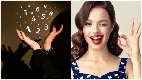 Colaj de două fotografii: în stânga, o poză cu numere, în dreapta, o poză cu o tânără care zâmbește