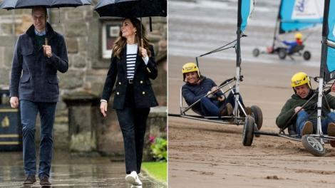 Colaj de fotografii cu ducesa și ducele de Cambridge în zilele lor petrecute în Scoția