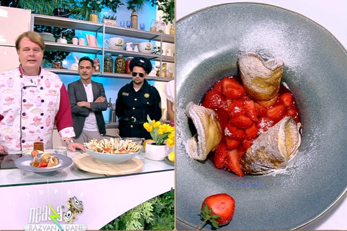 Kaiserscmarrn cu sos de căpșuni, rețetă de clătite austriece preparată de Vlăduț la Neatza cu Răzvan și Dani