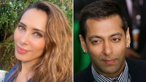 Colaj două fotografii. Iulia Vântur, în stânga, și Salman Khan, în dreapta