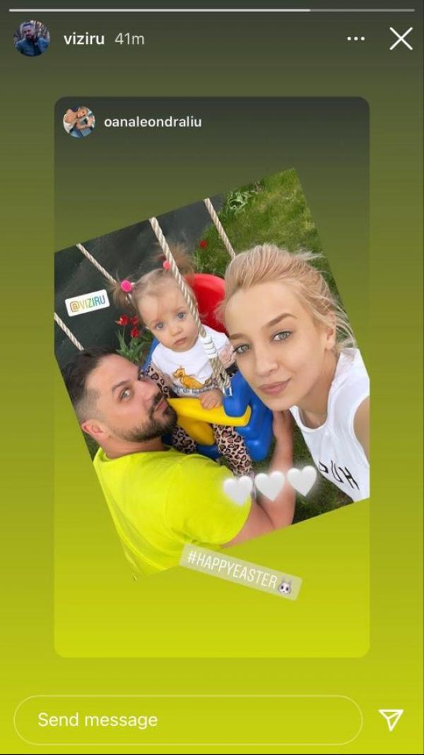 captura instagram cu augustin viziru, fiica si iubita lui