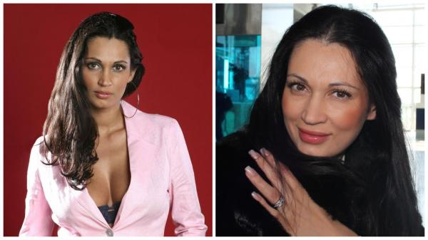 Colaj cu Nicoleta Luciu, purtând un sacou roz, la încpeutul anilor 2000 și o bluză neagră în 2012