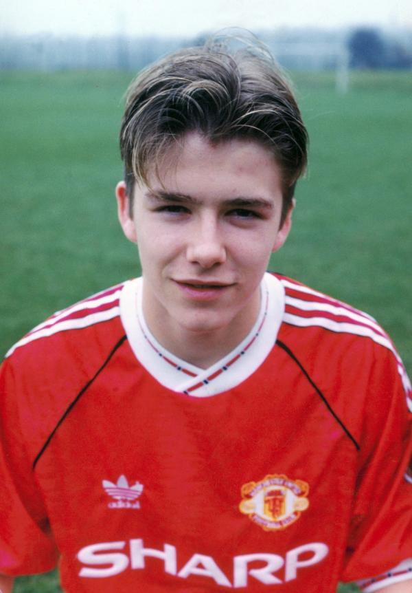 David Beckham în adolescență
