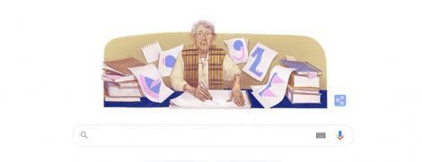 captura cu google doodle care o celebreaza pe geta bratescu