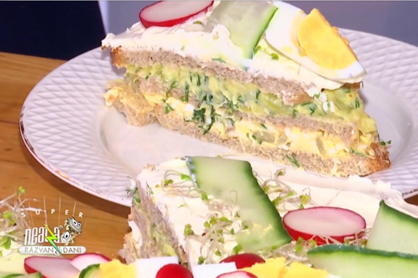 Rețetă de tort pentru micul dejun sau tort aperitiv, preparată de Oana Trifu la Neatza cu Răzvan și Dani