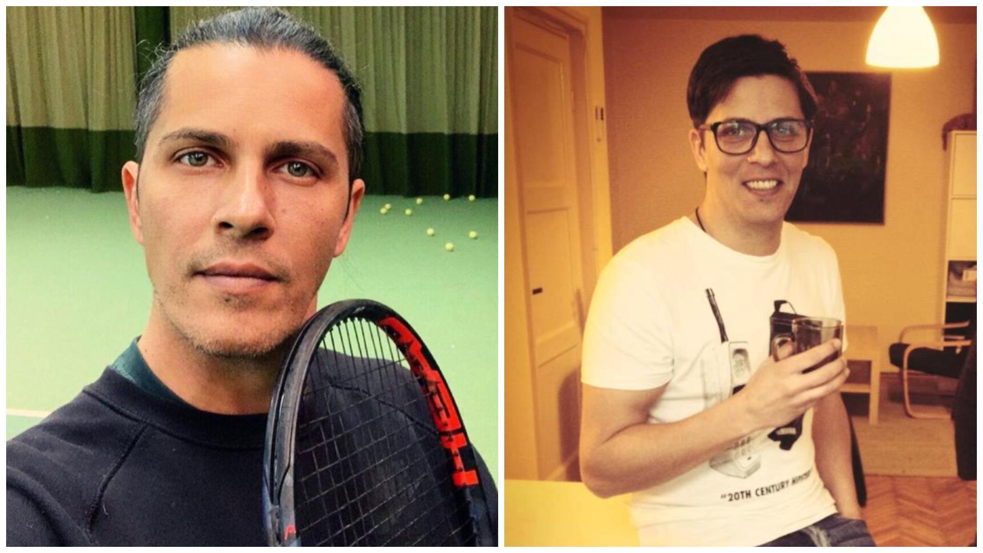 Colaj cu Lucian Viziru în 2021, pe terenul de tenis și în 2013, în bucătărie
