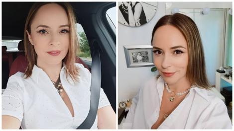 Andreea Marin în două ipostaze diferite