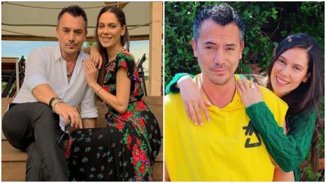 Colaj cu Răzvan Fodor, îmbrăcat în galben și gri și Irina Fodor, îmbrăcată în verde și roșu cu negru