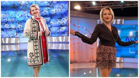 Mirela Vaida în două ipostaze diferite