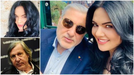Colaj cu Ilie și Ioana Năstase: ea îmbrăcată în negru, el în albastru