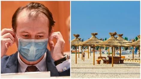 Florin Cîțu, precizări despre sezonul estival pe litoral: Fără mască pe plajă de la 1 iunie