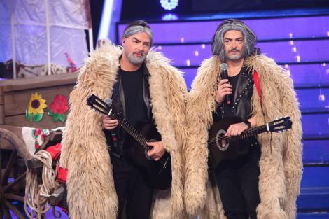 Te cunosc de undeva, 8 mai 2021. Liviu Vârciu și Andrei Ștefănescu au făcut spectacol pe scenă, transformați în Nicu Covaci