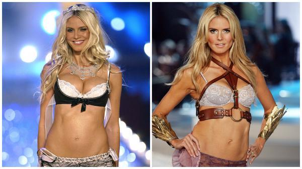 Heidi Klum în 2 ipostaze diferite